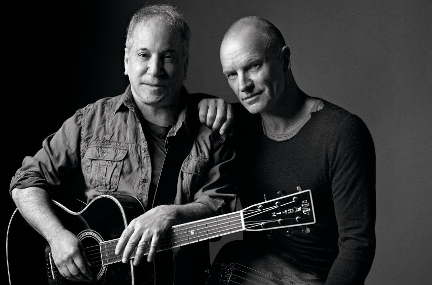 Paul Simon & Sting (Pressefoto, 2014)